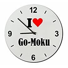 """Exclusive Gift Ideas: Glass Watch """"I Love Go-Moku"""" a Great gift that comes from the Heart- Watch- Ø20 cm- Christmas Gift"""