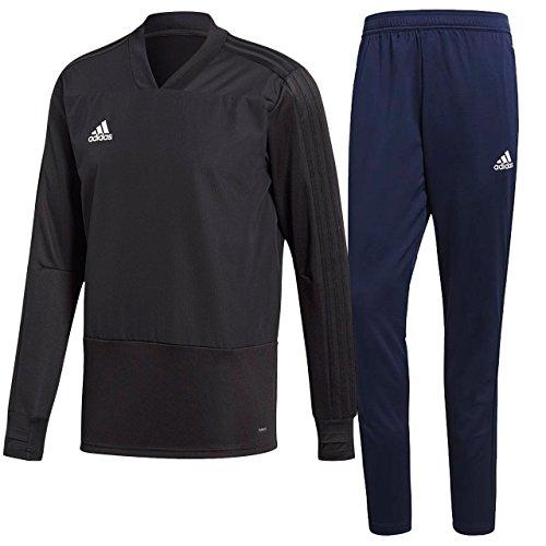 理想的本マインドアディダス(adidas) CONDIVO18 トレーニングトップ1&パンツ 上下セット(ブラック/ダークブルー) DJV18-CG0380-DJV11-CV8246