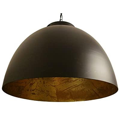 LightMakers KILEY Hanging Lamp, Duotone Black on Gold, 18d x 12h""
