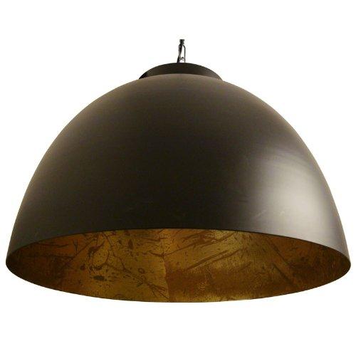 LightMakers KILEY Hanging Lamp, Duotone Black on Gold, 18d x 12h'