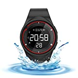 Smart Watch Non-Bluetooth Kids Pedometer Watch Sport Wristband IP68 Water-Resistant Swim Watch Fitness Tracker with Step/USB Charge/Distance/Calorie/Clock/Timer for Walk Kid Men Women