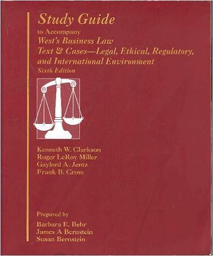 International business law: international edition, 6th, august.