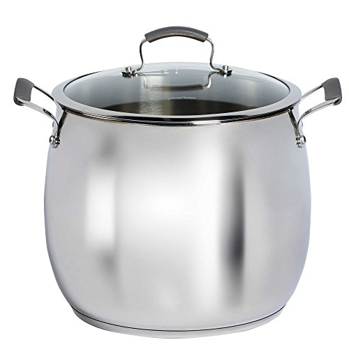 Epicurious Stainless Steel 16 qt. Covered Stock Pot