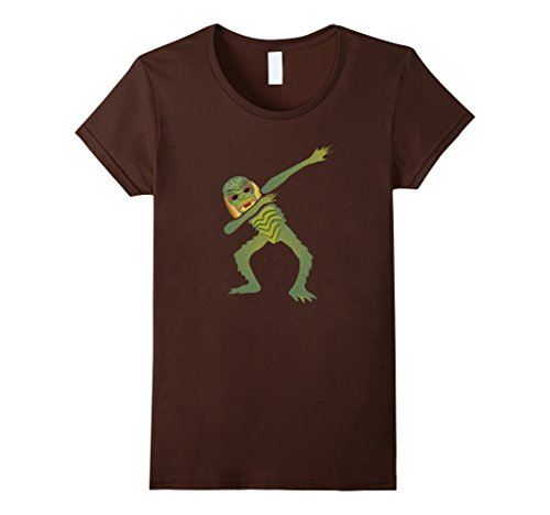 Swamp Creature Costumes (Womens Dabbing Swamp Lagoon Creature t-shirt ~ Dab Dabbin Medium Brown)