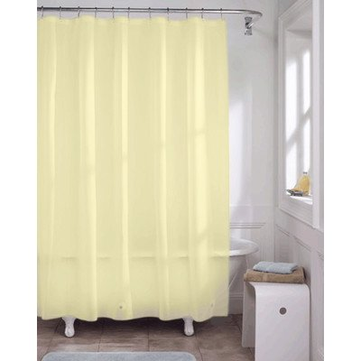 United Linens 10 Gauge HEAVY DUTY Shower Curtain Liner Yellow70x72 PEVAMildew