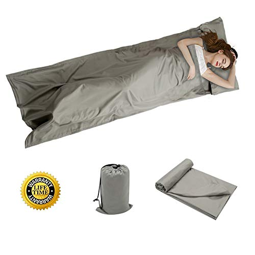 OTDEST Travel and Camping Sheet Sleeping Bag Liner - Lightweight Compact and Portable Adult Sleeping Bag- Ideal for Traveling,Hostels and Camping