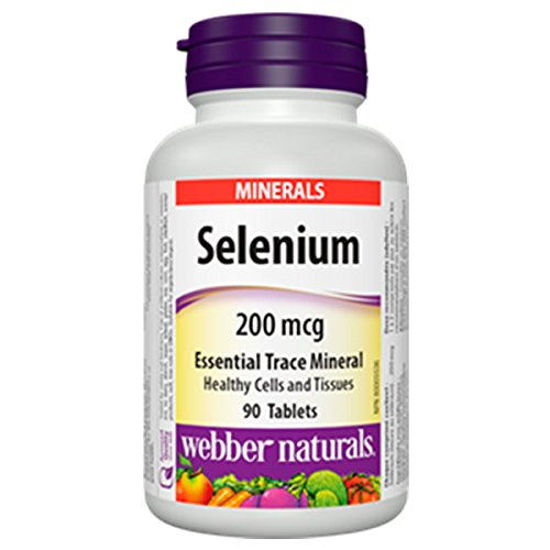 Webber Naturals Selenium, 200mcg, 90 tablets per bottle