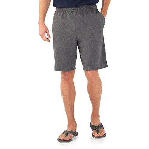 Fruit of the Loom Men's Jersey Short (Small, Charcoal Grey)
