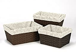 Set of 3 One Size Fits Most Basket Liners for Victoria Jacquard Bedding Sets