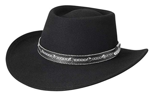 Harley-Davidson Women's H-D Emblem Crushable Wool Cowboy Hat, Black HD-199 (XL)