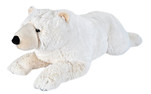 Wild Republic Jumbo Polar Bear Plush, Giant Stuffed Animal, Plush Toy, Gifts for Kids, 30 Inches