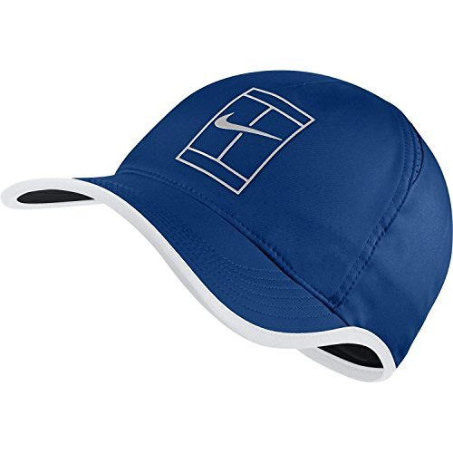 Nike Tennis - NIKE Mens Featherlite Aerobill Court Tennis Hat (One Size, Blue/White)