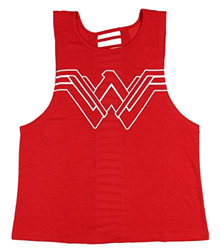 Wonder+Woman+Shirts Products : Wonder Woman Juniors Dash Back Muscle Tank Top