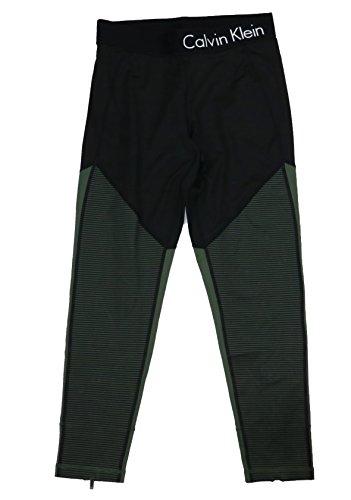 (Calvin Klein Performance Colorblocked Ankle-Zip Leggings (Vine Combo,)