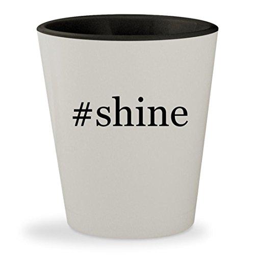 #shine - Hashtag White Outer & Black Inner Ceramic 1.5oz Shot Glass