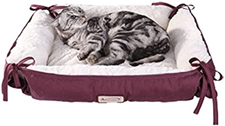 15in Multicolored Rectangular pet bed for Cats or small Dogs