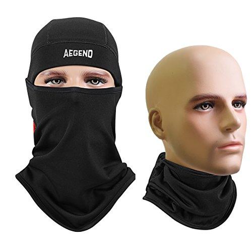 에진도 (Aegend) 개량판 페이스 마스크 후타입 숨막히지 않 넥 워머(Warmer) SWAT눈(째) 이고모 UV컷 방진 보온 방한 방풍 아웃도어 마스크 고등어 가이아 ― 장비 방한 상태 한 장 들어감