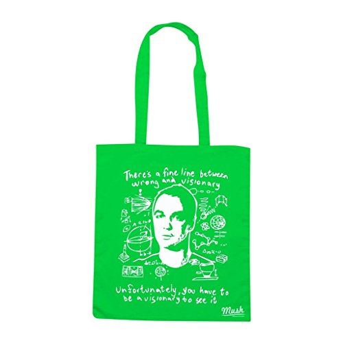 Borsa Sheldon Experiment Visionary Big Bang Theory - Verde prato - Film by Mush Dress Your Style