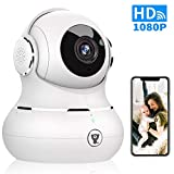 WiFi Home Security Camera, Littlelf Smart 1080P IP Camera with Two-Way Audio, Motion Detection, Night Vision, Baby/Pet/Zahaus Monitor, Supports Remote Alarm, SD Card and Cloud