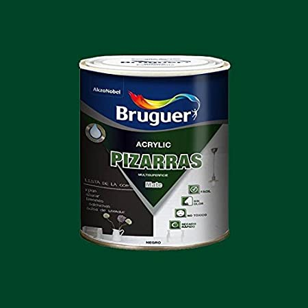 Bruguer - Pintura Multisuperficie Mate Acrylic Pizarras Bruguer 750 Ml Verde: Amazon.es: Hogar