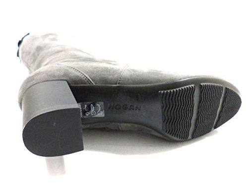 Hogan - Botas de ante para mujer gris