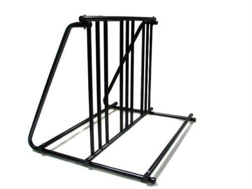 6 Bikes Floor Mount Parking HD Steel Rack Storage Bicycle Yard Outdoor Stand