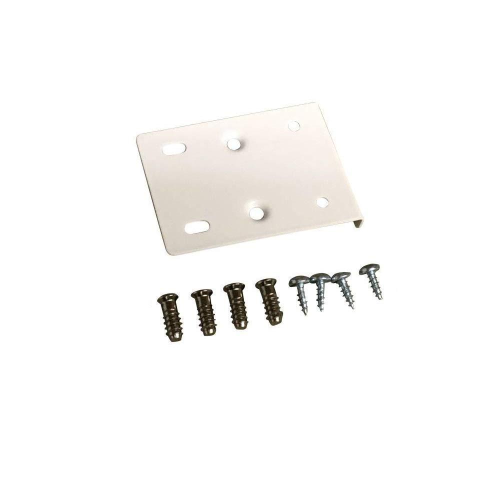 incluye placas y tornillos de fijaci/ón Kit de reparaci/ón de bisagras para puerta de armario de cocina color blanco crema