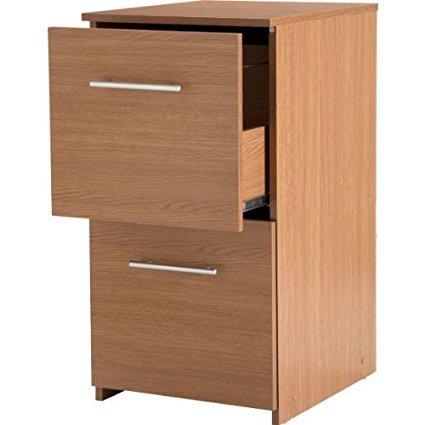 crazyshop - Mueble archivador con dos cajones, efecto de madera/roble, para oficina u hogar, color roble: Amazon.es: Oficina y papelería