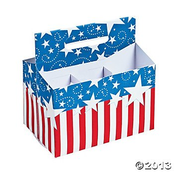 Patriotic Tableware Caddy/4th. of July Independence Day Memorial Day Party Supplies  sc 1 st  Amazon.com & Amazon.com : Patriotic Tableware Caddy/4th. of July Independence ...