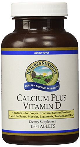 Nature's Sunshine Calcium Plus Vitamin D, 150 Tablets, Kosher | Powerful Vitamin Supplement for Adults Containing Vitamin D3, Calcium, and Magnesium