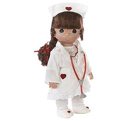 amazon com precious moments mini moments nurse brunette doll 5