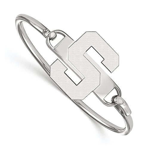NCAA Sterling Silver Michigan State University Lg 'S' Bangle, 6 inch by LogoArt