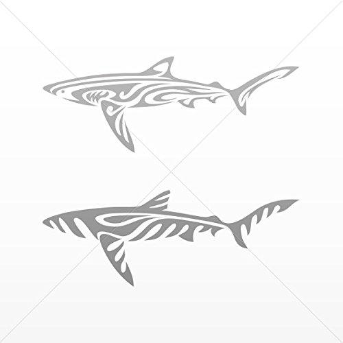 (Sticker Shark Tribal Car Door Hobbies Waterproof Racing Dura Gray (5 X 1.88 Inches))