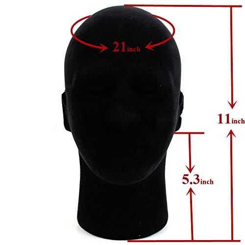 1 Pcs Female Styrofoam Mannequin Manikin Head Model Foam Wigs Hats Hairpieces Style Model Display (Black) by do.Cross (Image #5)