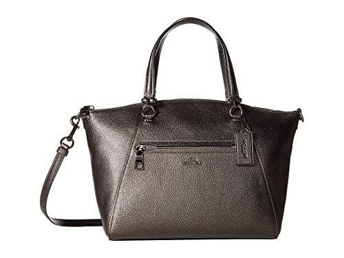 COACH Women's Metallic Leather Prairie Satchel Gunmetal/Metallic Graphite One ()