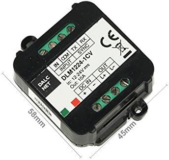 Dalcnet DLM1224-1CV LED Dimmer Master Slave Amplificador PWM 12 V 24 V 10 A Botón N.O. 0/1-10 V potenciómetro