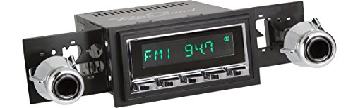 RetroSound HC-226-55-75 Hermosa Direct-Fit Radio for Classic Vehicles (Chrome Face and Buttons, Black Bezel)