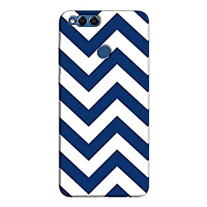 Cover It Up - Jagged Blue&White Honor 7xHard Case