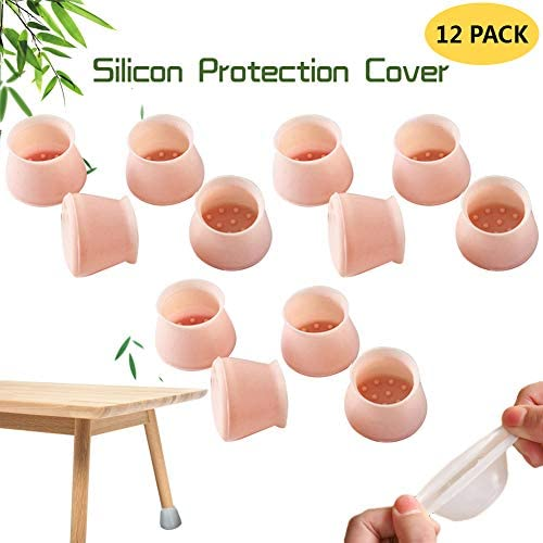 Funda protectora para patas de sillas de goma antideslizante port/átil