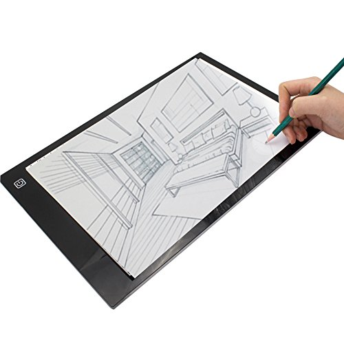 Wisehands A4 Size Light Tracing Box 14.2 x 9.4 Inches-USB Po