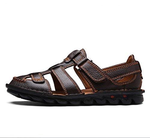 Plage Cuir Été Casual De Antidérapantes New En Mode Chaussures Sandales Marron Outdoor Hommes Extérieurzhangm Liangxie wZxUF00I