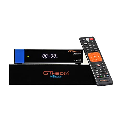 GTMEDIA V8 NOVA Blue Full HD 1080P DVB-S2 FTA Digital Satellite Receiver Support H.265, PowerVu, Biss Key, Built-in WiFi