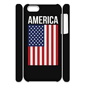 GTROCG American Flag Is It Friday Meowy Christmas Merry & Bright Phone 3D Case For Iphone 5C [Pattern-5]