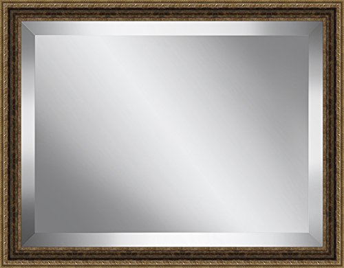 Ashton Art & Décor Traditional Antique Gold Framed Beveled Plate Glass Mirror, 24 by 28-Inch by Ashton Art & Dcor