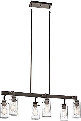 Kichler 43059OZ Braelyn Linear Chandelier 6-Light, Olde Bronze