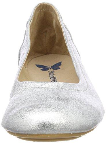 Blu Argenté Oriole Ballerines Fermé Pinto silver Femme 36 Bout Di 5xw10
