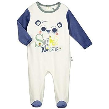 Pyjama bébé velours Supernoisette - Taille - 3 mois (62 cm) Petit Béguin Animaux