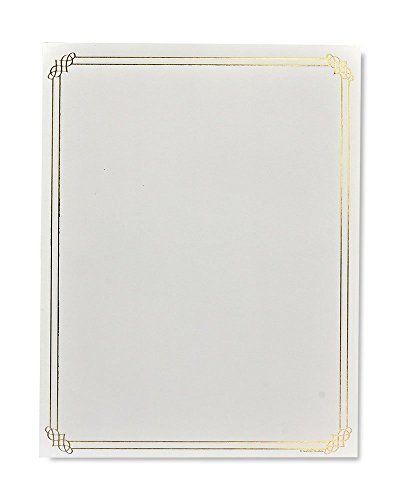 Gartner Studios Gold Foil Border Stationery, 40 count ()