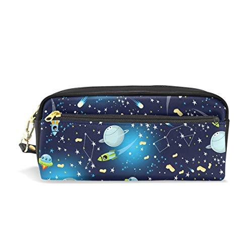 Trousse Donna Planet Mini Portapenne Impermeabile Pu Universe Leatehr Da Organizer Mysterious Grande Rocket Mano Trucchi Capacità U684xqp