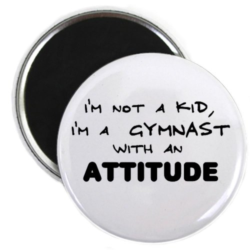 Gymnast with Attitude Magnet by CafePress